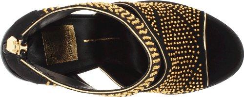 Dolce Vita Nita - Sandalias de vestir de cuero para mujer negro negro