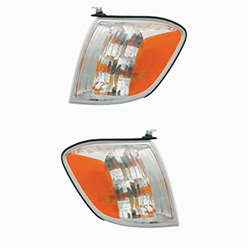 2005-2007 Toyota Sequoia & 2005-2006 Tundra Pickup Truck 4-Door Double Cab Corner Park Light Turn Signal Marker Lamp Pair Set Right Passenger AND Left Driver Side (05 06 07) ()