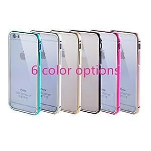 iPhone 6Plus–Protección lateral/Cover de parte trasera–Multicolor/metallic Diseño/transparente/neua rtig/metal de aleación/ultrafina metal/plástico/aluminio