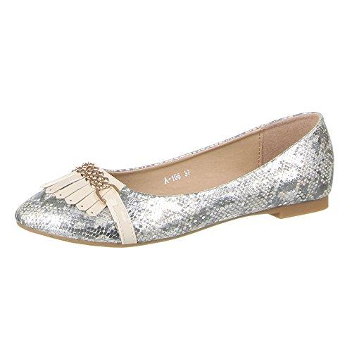 Damen Schuhe BALLERINAS MODERNE HALBSCHUHE Farben: Schwarz Creme Rosa Weiß Größen: 36 37 38 39 40 41 Creme