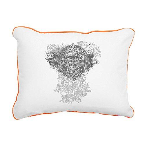 Rectangular Canvas Throw Pillow Orange Look Like a Greek God