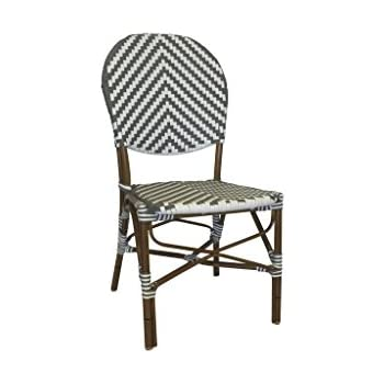 Amazing Table In A Bag CBCGW All Weather Wicker French Café Bistro Chair With  Aluminum Frame