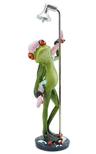 - We pay your sales tax Novelty Funny Frog Figurine Relaxing Statue For Home Decor (Taking a Shower)