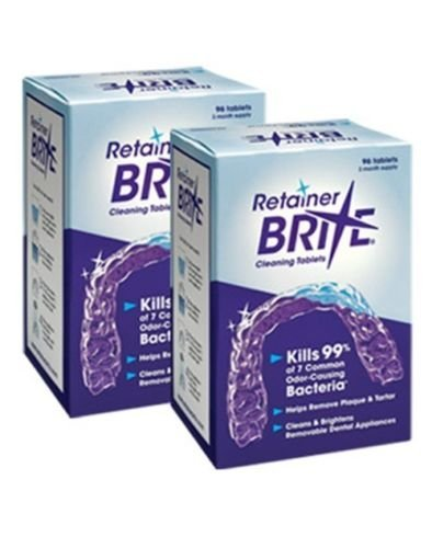 Retainer Brite -6 Months Supply- 2 Boxes Pack -192 Tablets by Retainer Brite