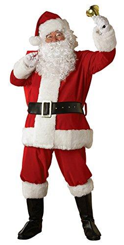 Rubies Mens Christmas Holiday Santa Suit Plush Regency Fancy Costume, X-Large (50-56) (Suit Regency Santa)