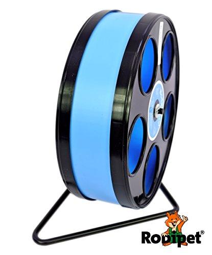 Ø 20 cm Laufrad für Zwerghamster RoboWheel schwarz/hellblau