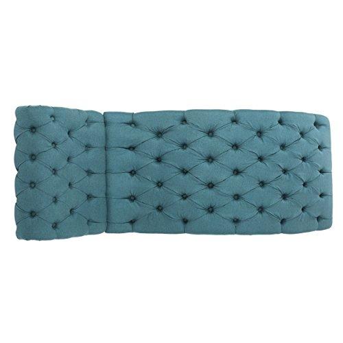 bellanca fabric tufted chaise lounge chair dark teal