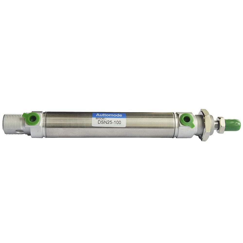 1/8'' NPT 25mm Bore × 100mm Stroke Round Air Cylinder
