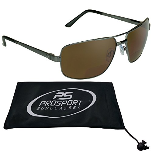 Square Aviator Polarized Bifocal Sunglasses for - Sunglasses Readers Aviation With