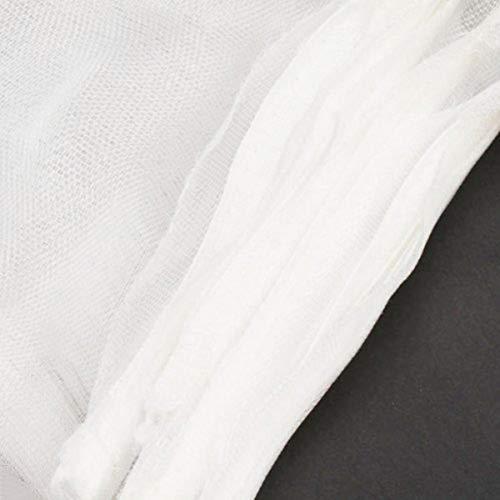 Bianco Taglia S POPETPOP 5pcs Sacchetti di Nylon di Nylon filtrare Filtro Acquario con Cerniera