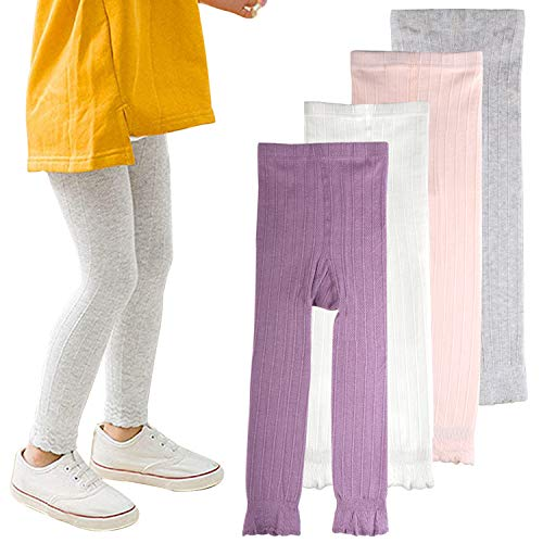16e984ed71e26 Auranso Toddle Baby Girls Leggings Basic Ribbed Kids Little Girl Footless Pants  Tights Warm Stockings 1
