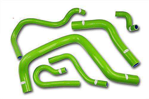 - TT Racing Green Silicone Radiator Hose Kit for Honda Civic B-series Type R B16A B16B DC2 EK4 EK9 EG6 EG11 TT1304CGR