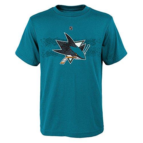 (Outerstuff NHL San Jose Sharks Pavelski J Boys Fractal Camo Player Short Sleeve Tee, X-Large/(18), Jag Teal)