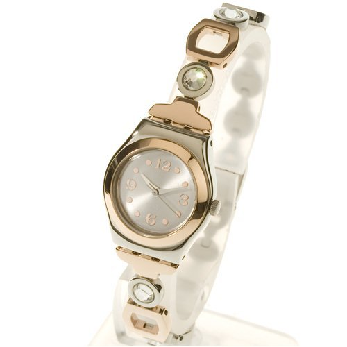 a8cfdfe8e21 Swatch Lady Passion Silver Dial Stinless Steel Bracelet Watch  Swatch   Amazon.co.uk  Watches