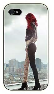 Surelock iPhone 5C Girl and city view - black plastic case, hot girl, girls