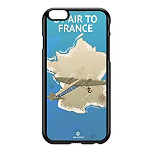 France Black Hard Plastic Case for iPhone 6 Plus by Nick Greenaway + FREE Crystal Clear Screen Protector