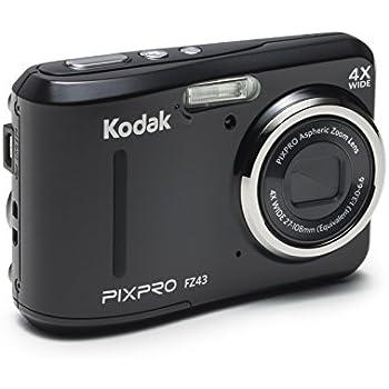 "Kodak PIXPRO Friendly Zoom FZ43 16 MP Digital Camera with 4X Optical Zoom and 2.7"" LCD Screen (Black)"