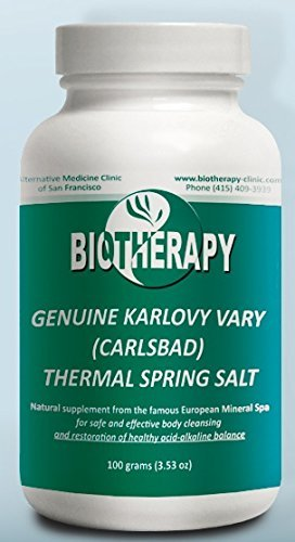 Biotherapy Genuine Karlovy Vary Healing Mineral Water Body Alkalizer - Thermal Spring Salt - Natural Mineral Supplement (Dosage Of Sodium Bicarbonate For Kidney Disease)