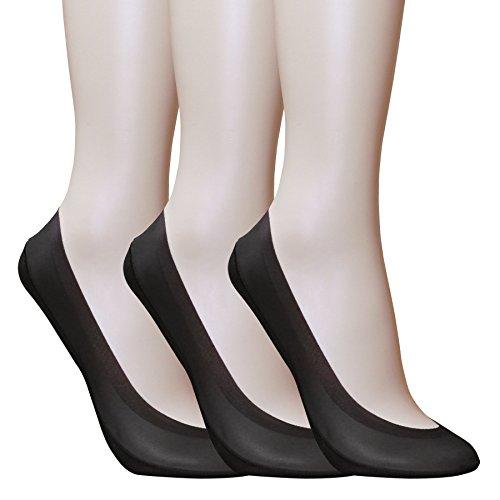Walkon Women's 3 Pack Silky Feel Shoe Liner No-show (Ballet Nylon Tights)