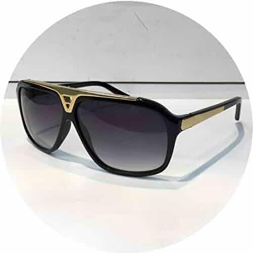 8a4587fc7aa7 Fashion Luxury Brand Evidence Sunglasses Retro Vintage Men Shiny Gold Frame  Laser Logo Women with Box