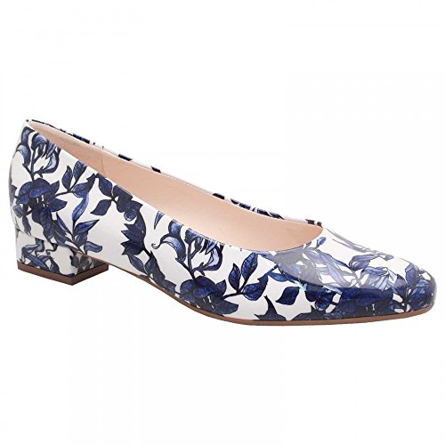 Floral Court Heel Print Low Kaiser Multi Navy Shoe Peter BRHZqwnx