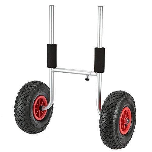 Docooler 50KG Loading Capacity Detachable Kayak Trolley Energy-saving Two-wheeled Kayak Carrier Cart (Hobie Kayak Wheels)