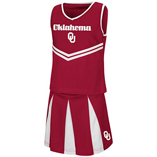 (Colosseum Youth NCAA-Girls Cheer Set-Oklahoma Sooners-Youth Medium)