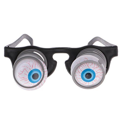 MagiDeal 2x Pop Out Eyeglasses Droopy Eye Spring Glasses Halloween Costume Party Joke -