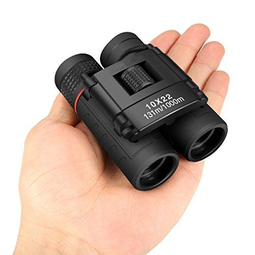 Nanle outdoor Mini Binoculars Compact Folding, 10x22 Lightweight...