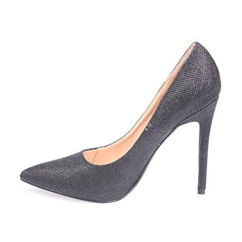 Mujer Modeuse De Negro Material Vestir Sintético La Zapatos pq17n7Y