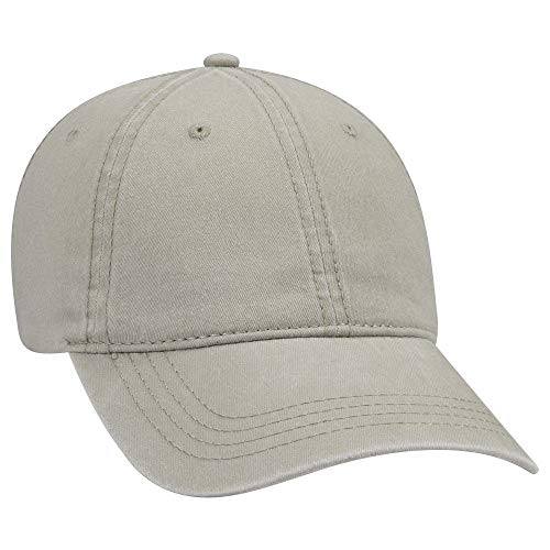 (OTTO 6 Panel Low Profile Garment Washed Pigment Dyed Baseball Cap - Stone Gray)