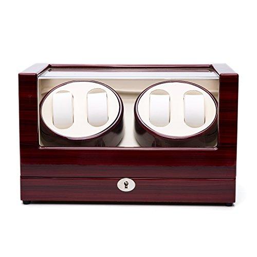 Watch Winder Case Automatic Quad Watches Jewelry Storage Cases Display (New Quad Watch Winder)