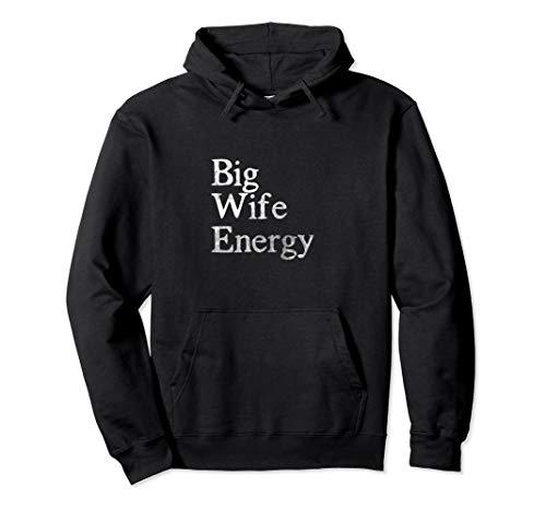 Big Wife Energy Distressed Hooded Sweatshirt