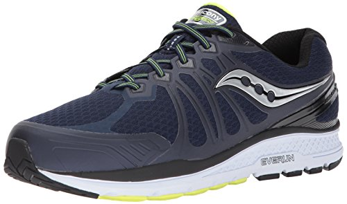 Saucony Men's Echelon 6 Running Shoe, Navy Citron, 12.5 M US by Saucony
