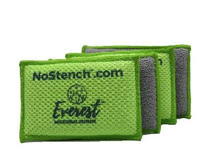 NoStench Sponge - 4 pack Antibacterial Microfiber Mesh & Terry Cloth Kitchen - Terry Sponge