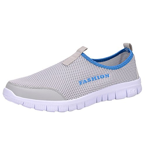 Women's Flat Athletic Shoes 2019 Fashion Summer Lightweight Cotton Casual Stripe Classic Sneakers Refined Soft Shoes (US 6.5, D) ()