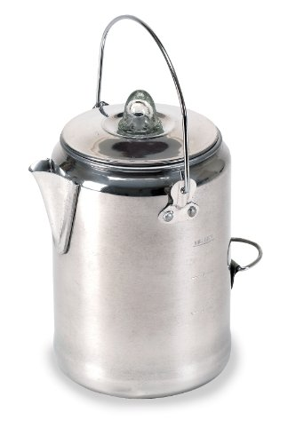 Percolator Coffee Camp - Stansport Aluminum Percolator Coffee Pot, 9 Cups