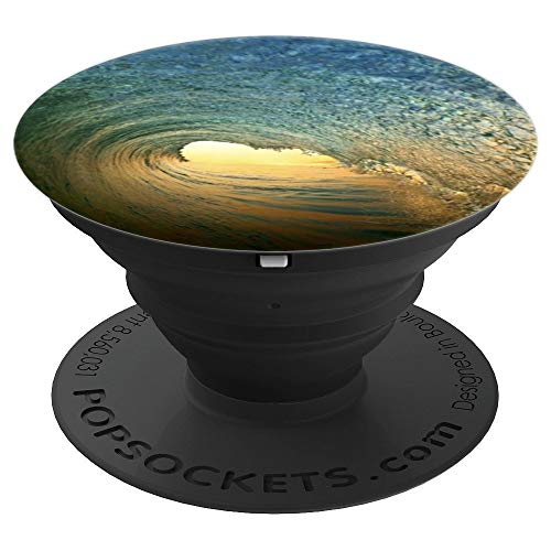 Sunrise Barrel Breaking Ocean Wave - PopSockets Grip and Stand for Phones and Tablets
