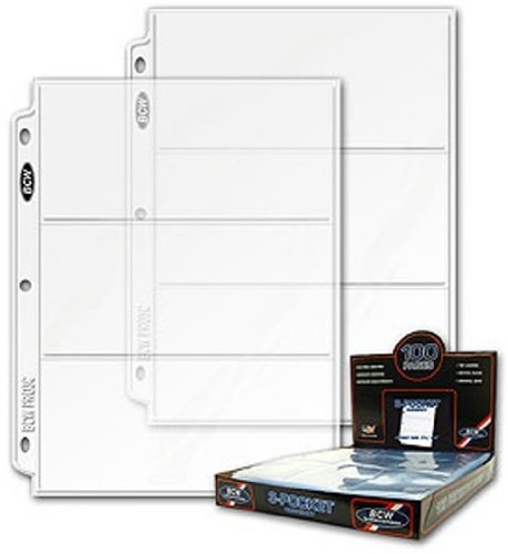 BCW 3 Pocket Currency Coupon Binder