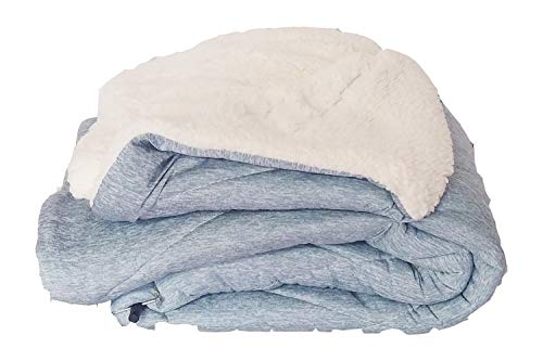 Jersey Sherpa Throw - Micasa Sherpa Fabric Inside Jersey Quilted Throw Blanket Vibrant Color Options 50