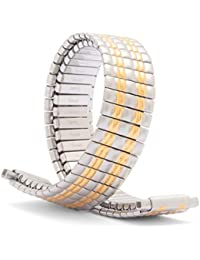 Speidel Ladies Twist-O-Flex Expansion Replacement Watch Band Dual Tone Straight End 10-14mm