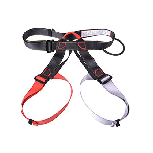 Mountaineering Harness, fire Rescue, high Altitude Rock Climbing, Downhill Equipment, Half Body Guard-reddishgray by HENRYY (Image #4)