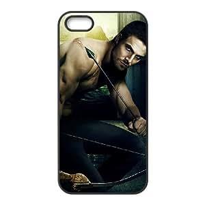Oliver Queen 002 funda iPhone 4 4S caja funda del teléfono celular del teléfono celular negro cubierta de la caja funda EOKXLKNBC11777