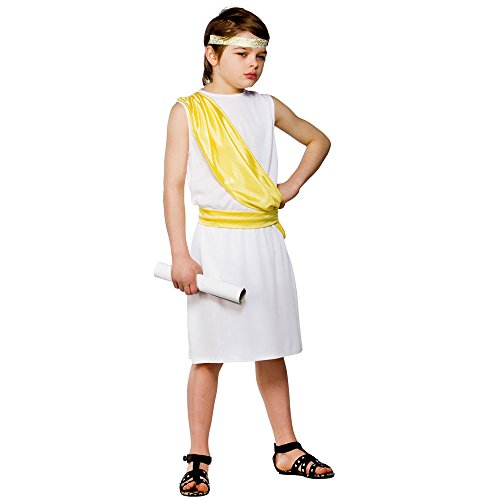 Ancient Greek Boy Fancy Dress kids Historic Book week Costume ()