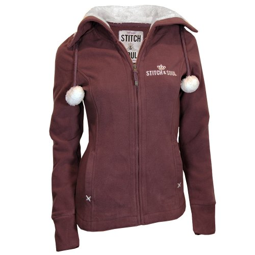 Dark Stitch Red Brownish Blouson Femme amp; Manches Soul Longues xYYwAra4