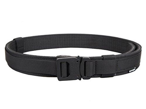 DLP Tactical Cobra Buckle Pistol/Rigger Belt (Black, Large)