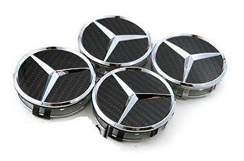 4 tapacubos MERCEDES BENZ, 4 embellecedores de ruedas, tapa llantas, cubos, carbono