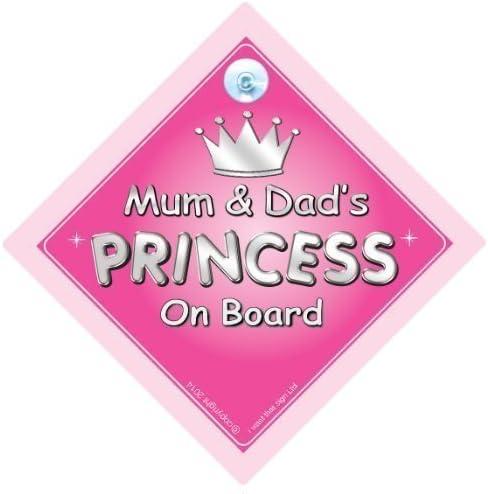 Mum /& Dad de Princesse Sur le Board Princesse signe pour voiture panneau b/éb/é/à bord nouveaut/é voiture Panneau Princesse sur planche signe voiture Panneau m/ère b/éb/é/à bord 730