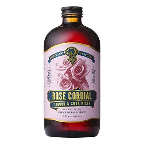 Portland Syrups Rose Cordial Cocktail and Soda Concentrate (16 oz)
