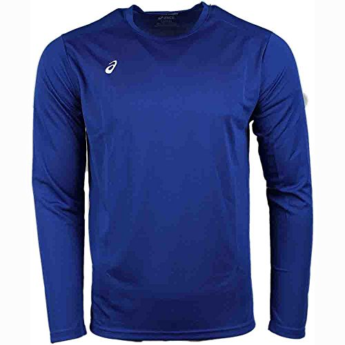 Mens Track Singlet (ASICS Circuit 8 Warm-Up Long sleeve, Royal, 3X-Large)
